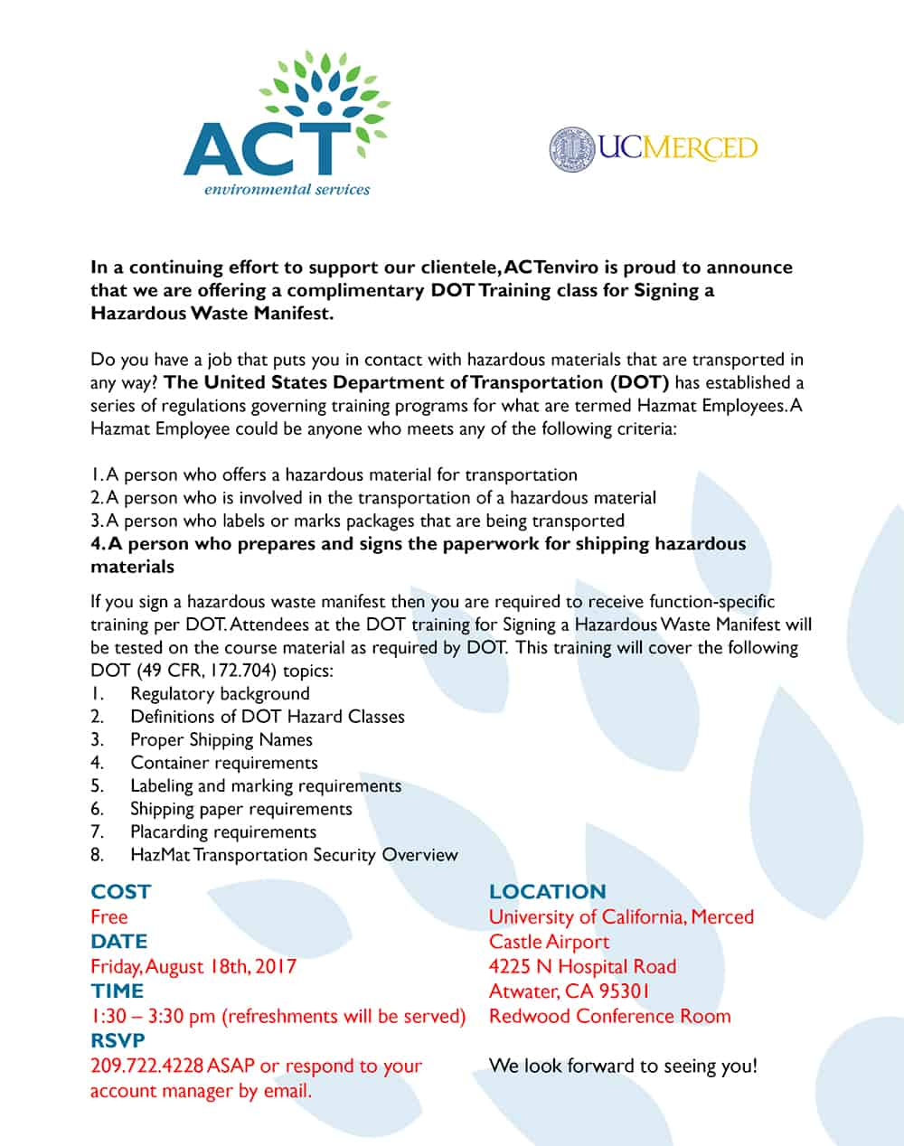 ACT-DOT-Free-Training-class-August-18,-2017