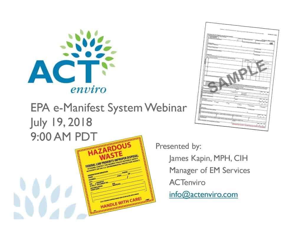 ACTenviro_EPA_e-Manifest_Presentation_Cover Slide